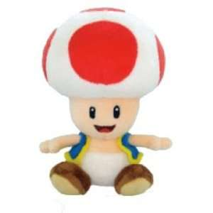 8 Inch Toad Mushroom Soft Stuffed Plush Toy   Japanese