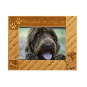 Pointing Griffon  5 x 7 Engraved Alderwood Picture Frame # 0166