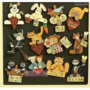 Handmade Fridge wooden magnet about(9cm*5cm) 10 pieces