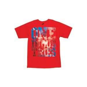 2012 ONE INDUSTRIES HUGE TEE SHIRT   RED  SMALL   32166