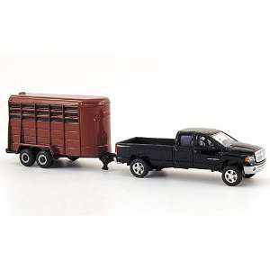 Dodge Ram Pickup with Horse Trailer 164 Scale Toys