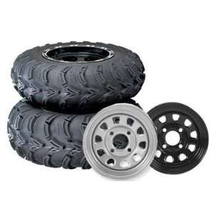 ITP Mud Lite AT Black Delta Tire/Wheel Kit   25x10x12