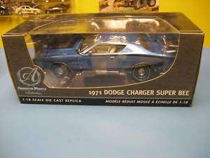 ERTL AUTHENTIC 1971 DODGE CHARGER SUPER BEE NIB