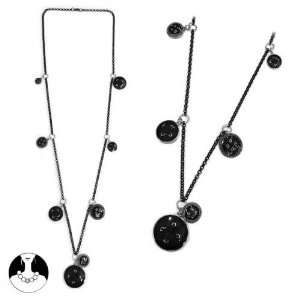 SG PARIS LONG NECKLACE 94 CM BLACK NOIR/JET NECKLACE LONG