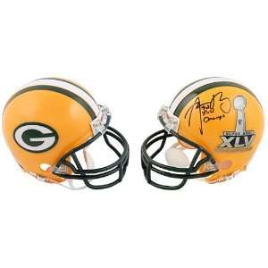 Packers Super Bowl XLV Champions Aaron Rodgers Autographed Mini Helmet