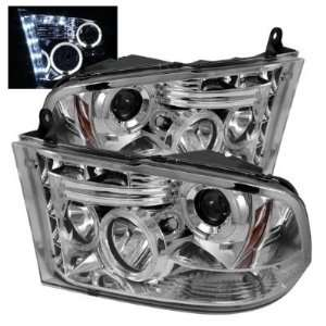 2009 2010 Dodge Ram 1500 Halo LED Projector Headlights