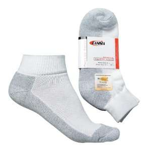 Gamma Womens Dri Release Quarter Socks, White