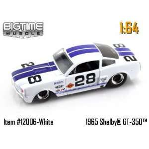 com Jada Dub City Big Time Muscle White 1965 Shelby GT 350 with Blue