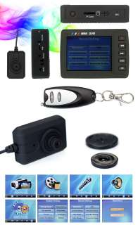 Wired Mini Portable Security CCTV Spy Camera + Display DVR AV Recorder