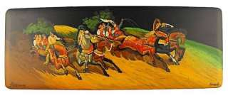 Troika is the famous carriage or sleigh pulled by three horses abreast