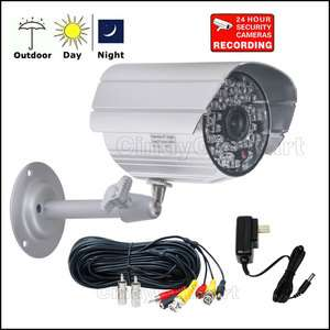 Security Video Cameras kit Color IR Audio Cable PS 1sl 753182740720