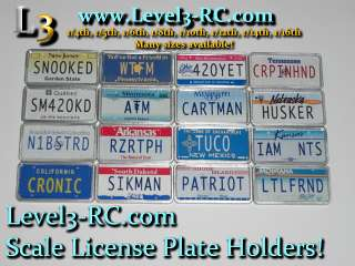 LICENSE PLATE HOLDERS RADIO CONTROLLED RC ROCK CRAWLER TRUCK PARTS