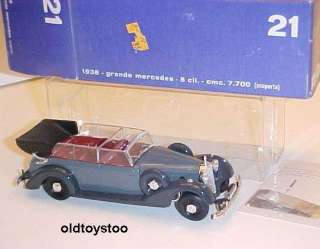 RIO ITALY 1937 MERCEDES CABRIOLET 143 SCALE DIECAST W/DISPLAY BOX