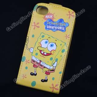 Spongebob Flip Leather Case Cover For iPhone 4 4G  SP1