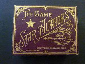 THE GAME OF STAR AUTHORS (Mark Twain) 1887