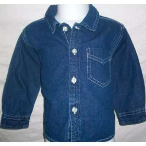 Baby Girl or Boy, Extra Large 18 24 Months, Denim Shirt Baby