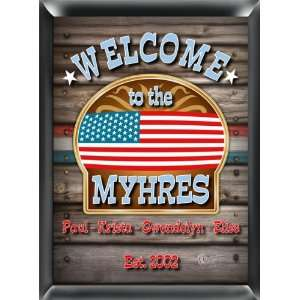 Personalized Family Welcome Pub Signs
