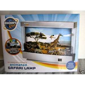 Discovery Kids Animated Safari Lamp INCLUDES BONUS ANIMAL GUIDE POSTER