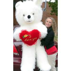 Giant 6 Feet Tall Big Plush Valentine Teddy Bear with Long