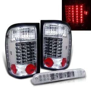 Eautolights 01 05 Ford Ranger LED Tail Lights + LED 3rd Brake Light