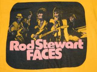 FACES T SHIRT ROD STEWART TOUR CONCERT THE WHO ROLLING STONES SMALL