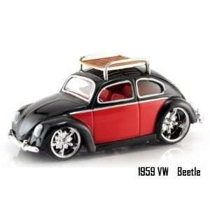 Jada Dub City Black & Red 1959 VW Beetle 164 Scale Die