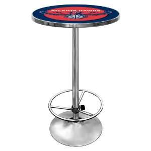 NBA Atlanta Hawks Chrome Pub Table