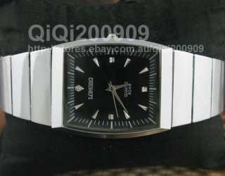 New Mens Stainless Steel Band Quartz Move Wrist Watch
