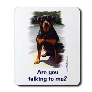 Are you talking to me Dog Mousepad by  Office