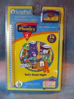 NEW SEALED Leap Frog Leap Pad Phonics Lesson 2 Tads Good Night