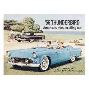 Kitchen Refrigerator Magnet Ford Thunderbird Car #M581