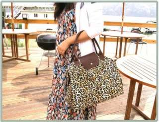 Fashionable Leopard Printed Shopping Tote Hand BAG