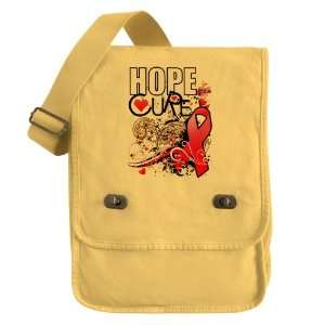 Messenger Field Bag Yellow Cancer Hope for a Cure   Pink