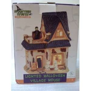 Lighted Animated Halloween Village House   Ghoul Mortuary