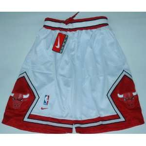Chicago Bulls NBA Basketball Shorts White Size XXL Sports