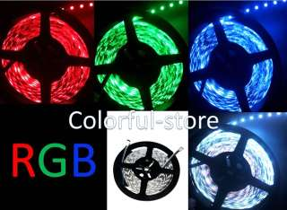 RGB SMD 5050 LED Strip light 5M Non waterproof 300LEDs+IR Remote