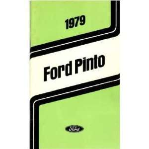 1979 FORD PINTO Owners Manual User Guide Automotive