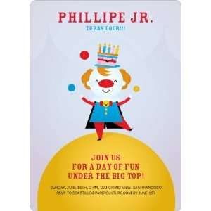 Juggling Clown Birthday Party Invitations Health