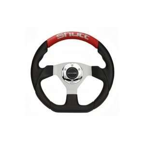 Shutt Auto SR Steering Wheel   Black Center Red Leather