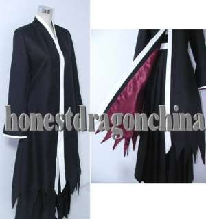 Bleach Ichigo Coat Black Red Cape Coat Cosplay Costume