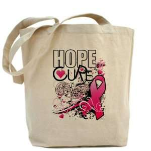 Tote Bag Cancer Hope for a Cure   Pink Ribbon Everything