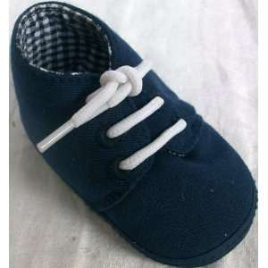 Baby Boy 0 6 Months, New Born Blue Soft Shoes with Laces Baby