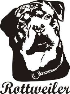 Rottweiler Dog Decal Sticker   Car Truck Laptop