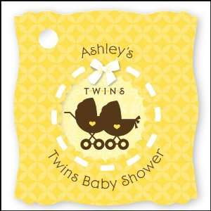 Twin Neutral Baby Carriages   20 Personalized Baby Shower