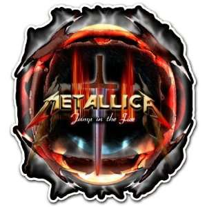 Metallica Jump in the Fire Heavy Metal Band Car Bumper Sticker Decal 4