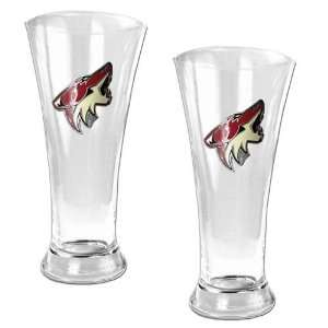 19oz Pilsner Glass Set   Primary Logo/Clear Glass