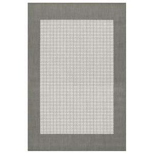 Couristan Recife Checkered Field Grey White   7 6 x 10 9