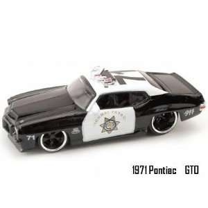 Jada Dub City Big Time Muscle 1971 Pontiac GTO Police 164