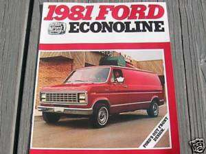 1981 81 FORD ECONOLINE VAN SALES BROCHURE MANUAL BOOK