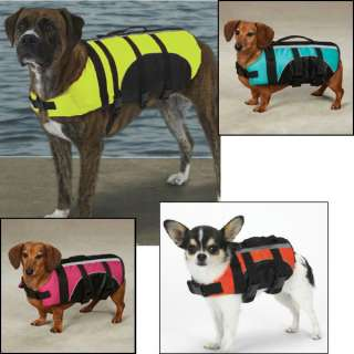 Guardian Gear Aquatic Safety PET PRESERVER Dog Life Vest Jacket ALL